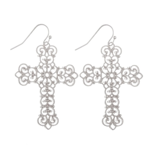 00dbe0356 ONE BLESSED NANA Jewelry | Nwt Boutiquegorgeous Cross Filigree ...